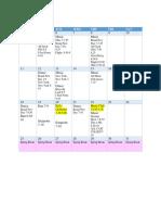 SINGO March Calendar