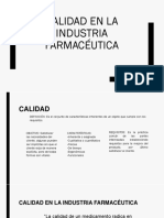 Calidad en La Industria Farmacéutica