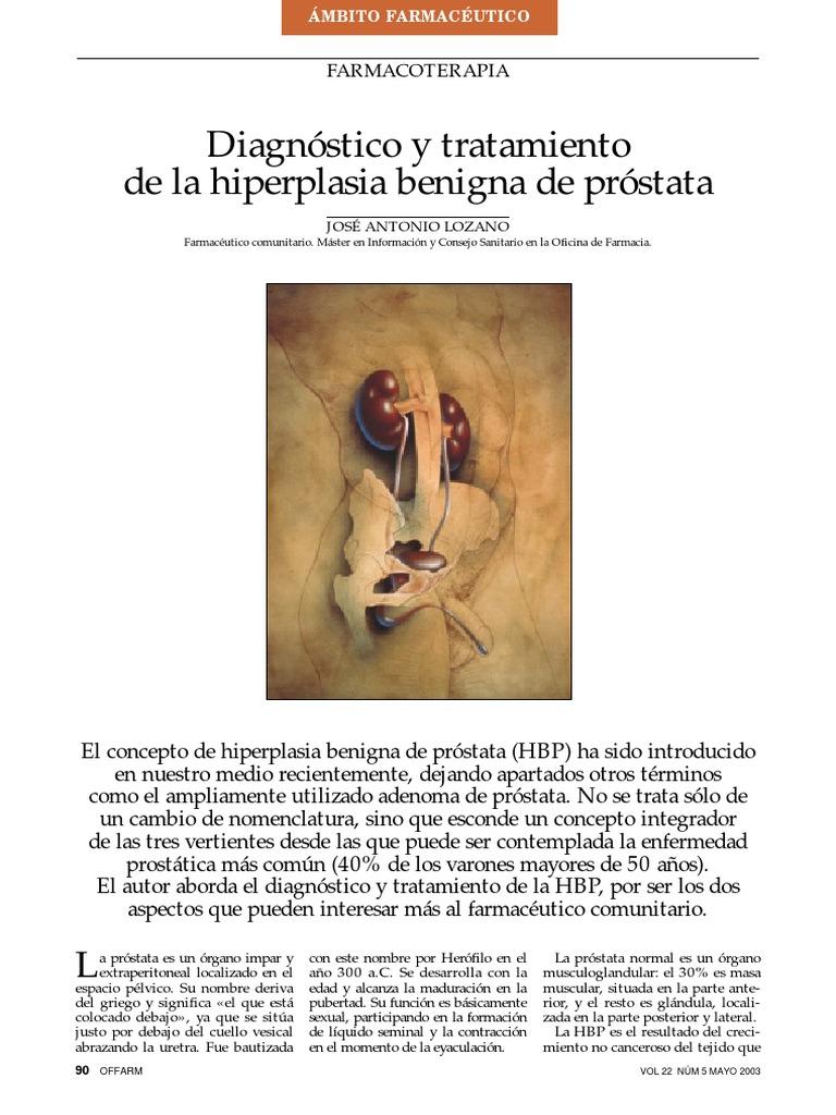 síntomas de hiperplasia prostática benigna en hindi