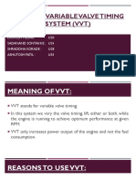 Study of Variable Valve Timing System (VVT