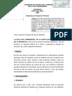 CAS Nº 225-2016-Lima - Constituye Motivación Insuficiente No Tener en Cuenta El IV Pleno Al Analizar Legitimación Para Incoar Demanda de Desalojo Por Ocupante Precario