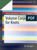 [SpringerBriefs in mathematical physics 30] Murakami, Hitoshi_ Yokota, Yoshiyuki - Volume conjecture for knots (2018, Springer).pdf