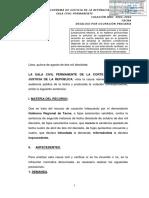 CAS Nº 3902-2016-Tacna - Se suspende desalojo cuando calidad del título se está discutiendo en proceso contencioso administrativo.pdf