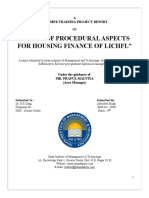 A Study Procedural Aspects for Housing Finance of LIC & HFL