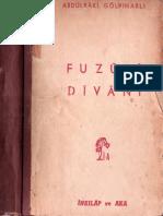 Abdülbaki Gölpınarlı - Fuzuli Divani