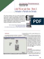 SE219 Lección 12 El programa del PLC en LabView 03 Diseño del indicador o pantalla de entrada