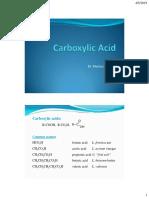 (1) Carboxylic Acids