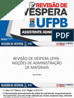 Revisão de Véspera Ufpb - Noções de Administração de Materiais