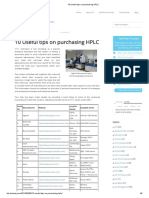 10 Useful Tips on Purchasing HPLC