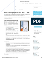 Cost Saving Tips for the HPLC User