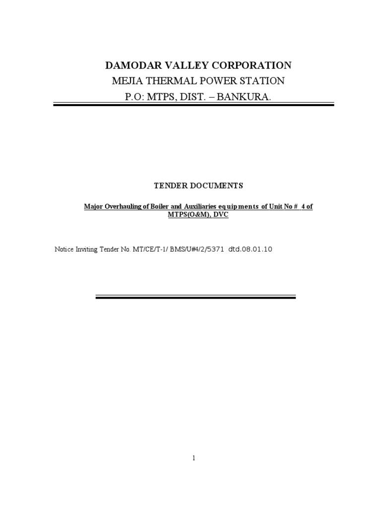 Major Overhauling of Boiler and Auxiliaries of U 4[1]   Duct (Flow ...