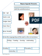 Ejercicios Ingles 2 Primaria 2 Evaluacion