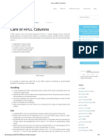 Care of HPLC Columns