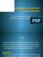 Research to publication ~ the art and science behind it