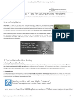 How to Study Maths_ 7 Tips for Problem Solving - ExamTime