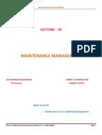 Maintenance Management 38