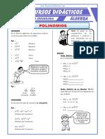Ejercicios de Polinomios Para Cuarto de Secundaria