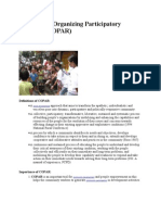 Community Organizing Participatory Research COPAR