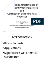 Biosurfactant by Pseudomonas