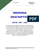 Memoria Descriptiva RUTA AM - 100 REV3