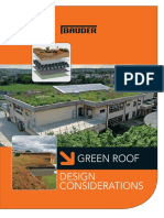 GREEN ROOF DESIGN CONSIDERATIONS