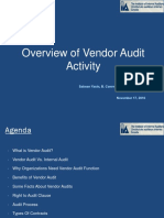 Overview of Vendor Audit Activity - IIA (for Distribution)