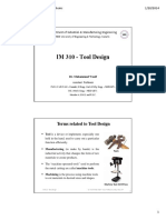 TD Lecture 1 Tool Materials