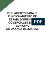 Reglamento Oaxaca