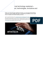 Research About the Impact of Fintech Internationally
