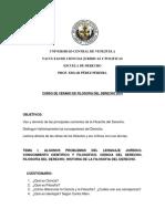 Programa de Filosofia de Derecho