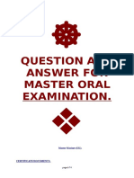 Question and Answer for Master Oral Examination (UK Master Mariner)