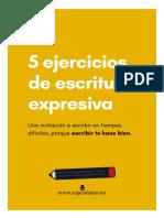 5 Ejercicios de Escritura Expresiva