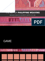 Philippine Weaving in Contemporary Culture