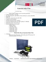 Generator Solar Fisa Tehnica