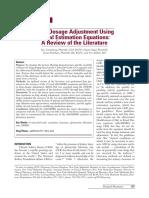 Drug Dosage Adjustment in Renal