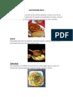 10 Comidas de Cada Una Gastronomia Maya - Garifuna - Xinca - Ladinos 5 Bebidas 5 Dulces