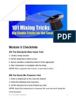 Mix Tricks Module 3 Checklists