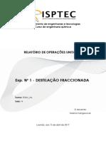 Relatório 1 - Destilação Fraccionada