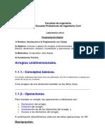 Arreglos Unidimensionales PD