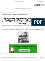 How McDonald's Became the Leader in the Fast Food Industry - Marketing Strategy