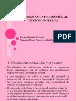 Capitulo Xv Introduccion Al Derecho Notarial
