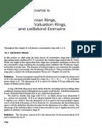 16 Anillos Artinianos, Anillos Discretos de Valoracion y Dominios Dedekind-Dummit-And-Foote-PDF
