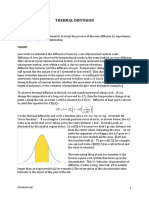Diffusion Experiment