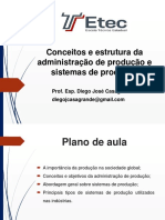Aula 5 - Conceitos e Estrutura Da Administração de Produção e Sistemas de Produção