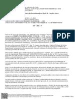 Decisão da desembargadora Maria de Lourdes Abreu