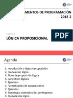 2018-2 Clase 1 - Logica