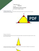 Evaluación Sobre Triangulos