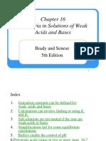 Ch16-Equilibria Weak Acids Bases