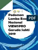 Pedoman Lomba Esai Viewspro Garuda Sakti 2019