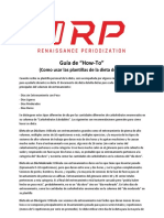 SPAN RP Diet Template How to Use Guide